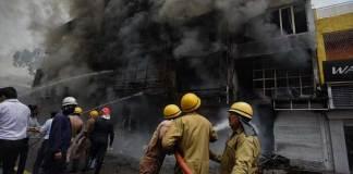 Delhi Lajpat Nagar Market Fire
