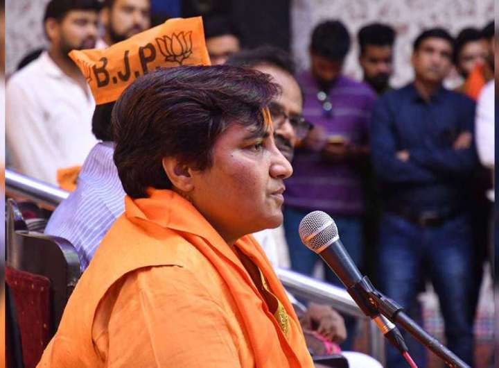 Pragya Thakur on 'temple run' after EC curbs on campaigning