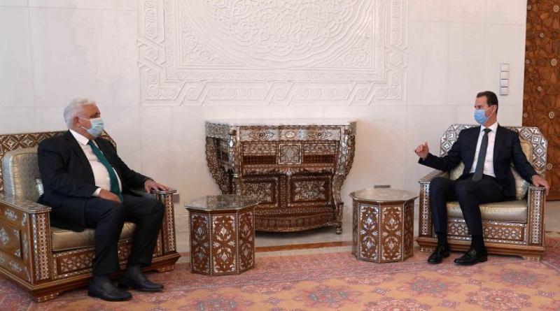 الرئيس الأسد يتلقى رسالة من رئيس الوزراء العراقي مع رئيس الحشد الشعبي