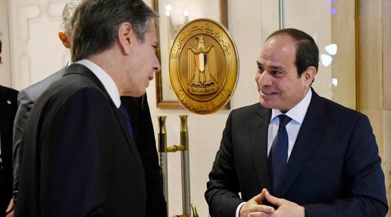 الرئيس السيسي يستقبل وزير الخارجية الأمريكية أنتوني بلينكن