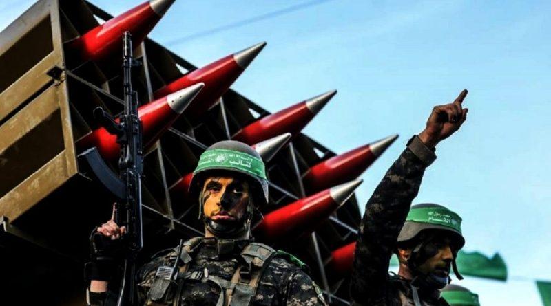 """صواريخ كتائب القسام الذراع العسكري لحركة المقاومة الإسلامية """"حماس"""""""