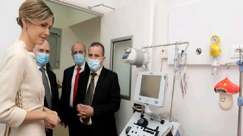 أسماء الأسد تزور مركز زرع الخلايا الجذعية للأطفال في حماه لتفقده قبل انطلاقه