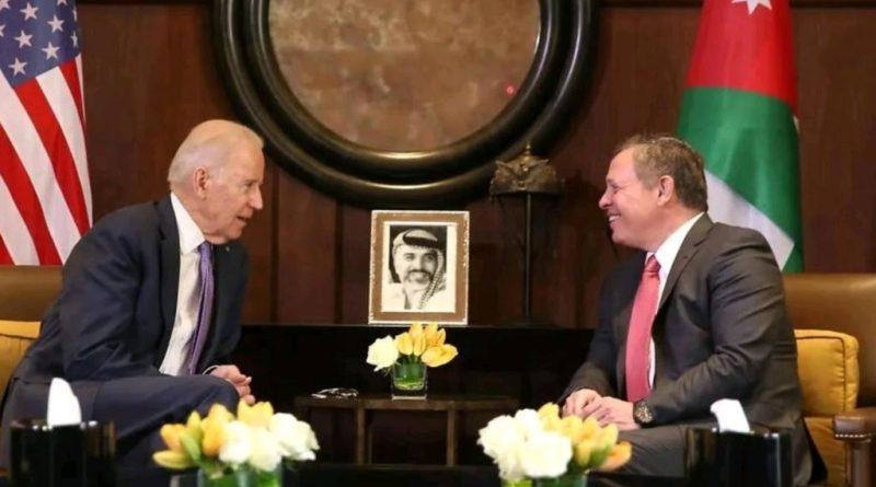 الملك الأردني سيناقش مع بايدن قانون قيصر والائتلاف الثلاثي العربي