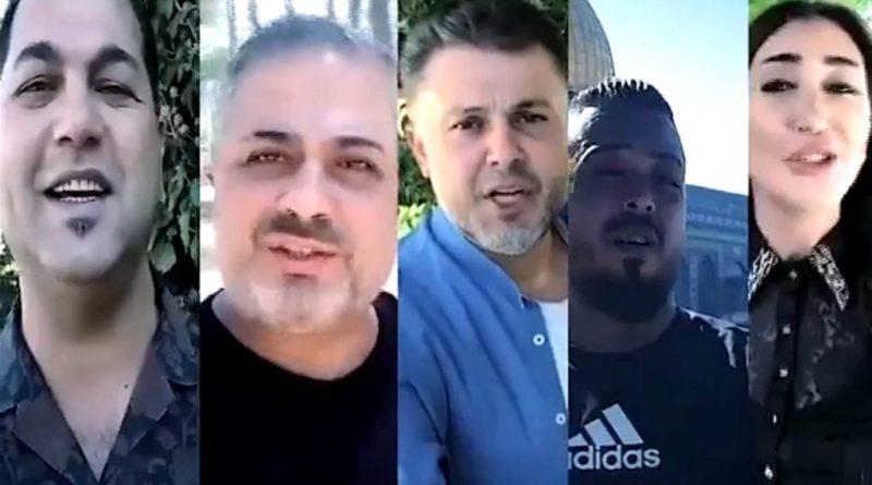 فخر العرب ربيع الأسمر وعاصم الغزالي وريبال الهادي يغنون شام العرين