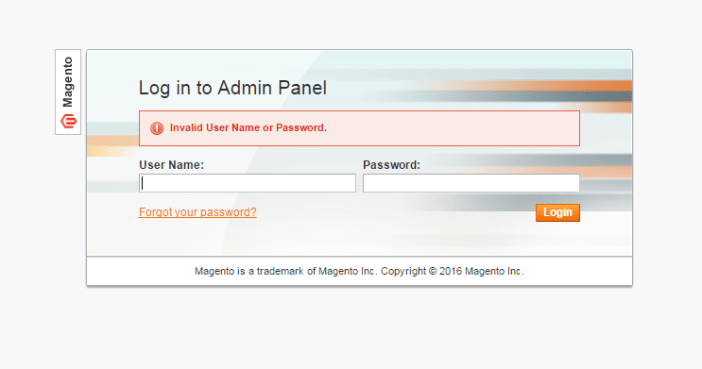 magento forgot password