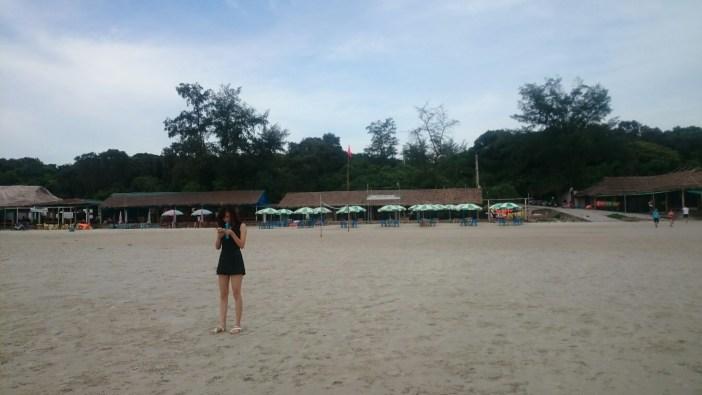 Một góc nhỏ tại bãi biển Minh Châu