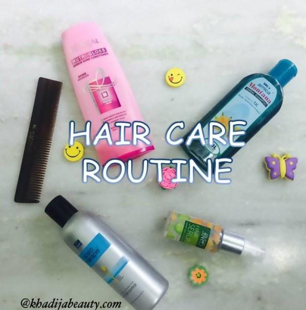 hair-care-routine, khadija beauty