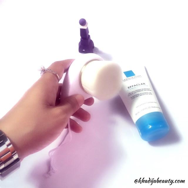 The skin time pore cleansing brush, khadija beauty, best cleansing brush for face
