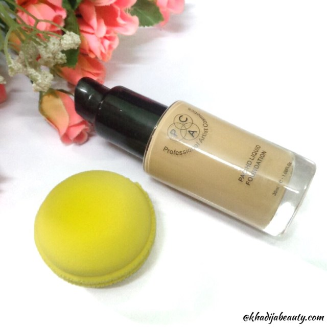 PAC HD liquid foundation review, khadija beauty