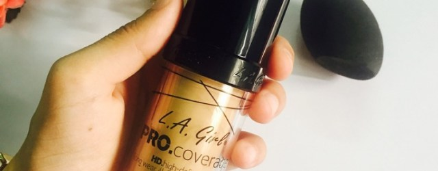 L.A girl Pro Coverage HD illuminating foundation review, KHADIJA BEAUTY