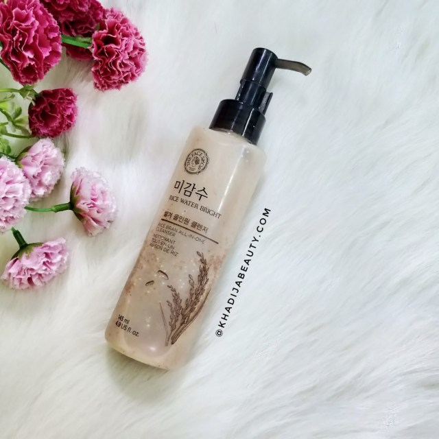 The Face Shop Rice Water Bright Rice Bran All-in-One Cleanser, khadija beauty