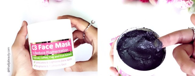 mamaearth C3 face mask, khadija beauty