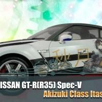 Fujimi 1/24 Nissan GT-R (R35) Spec-V Akizuki Class Itasha Ver