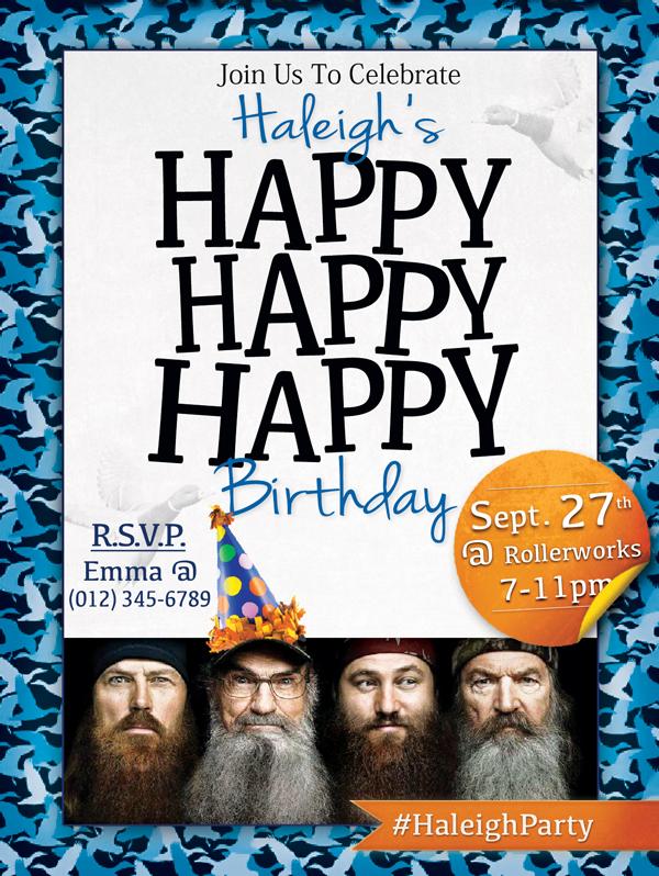 Duck invitation mikhail delinois duck invitation duck dynasty birthday invitation filmwisefo