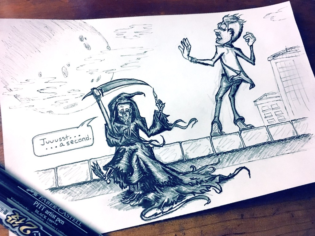 "Inktober ""Jump"" Theme – Reaper Needs a Second"
