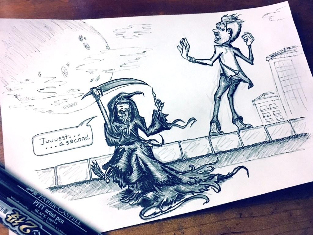 "Inktober ""Jump"" Theme – Reaper Needs a Second"