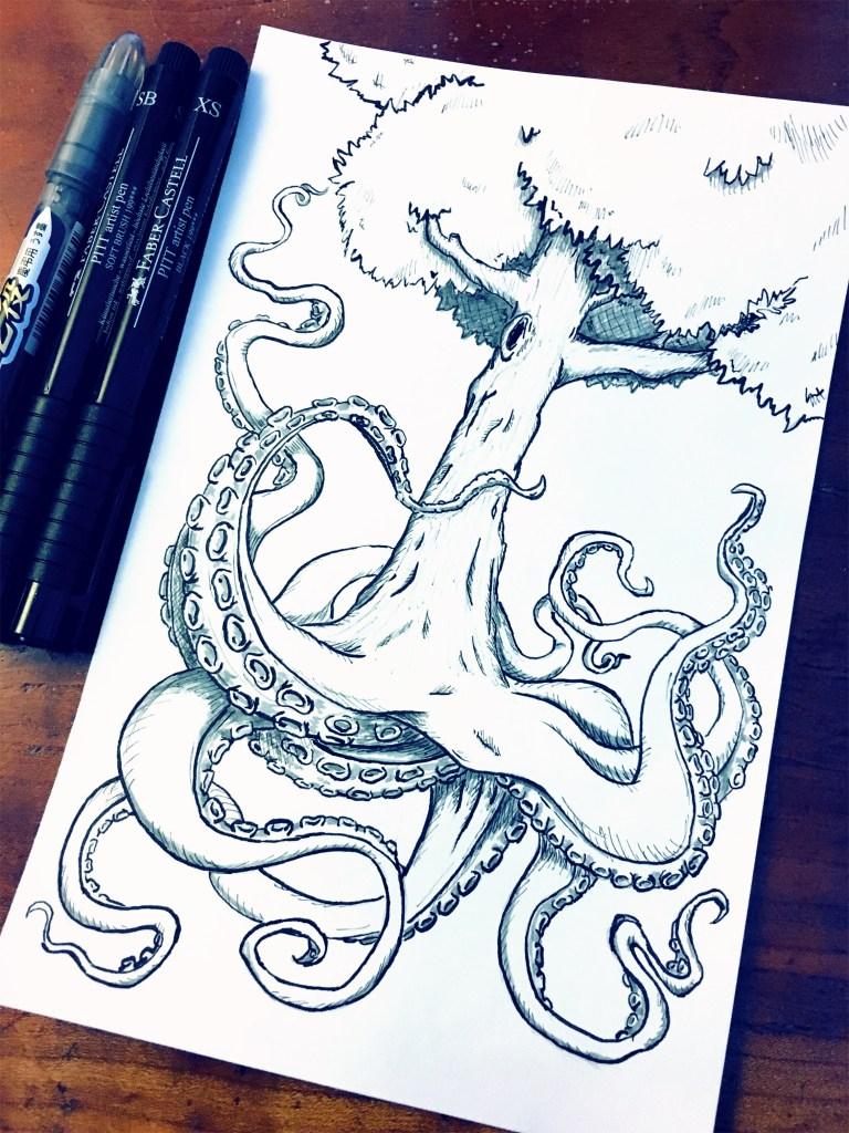 "Inktober ""Tree"" Theme – Octreepus"