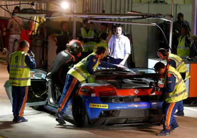 Img 4. Khaled getting into the car for the nighttime driver stint -Img Darren Rycroft