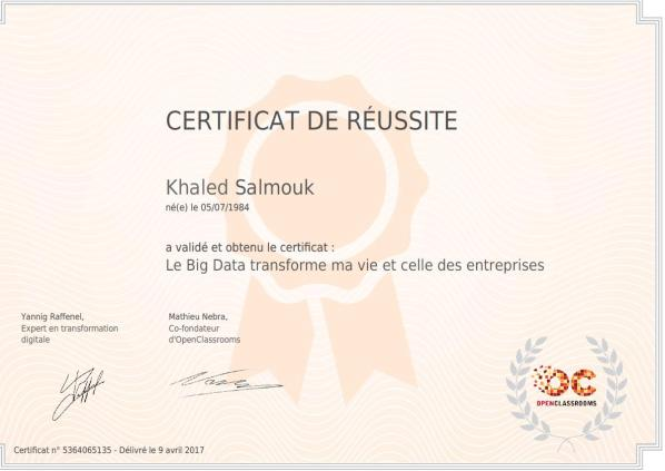 certificat SALMOUK Khaled big data