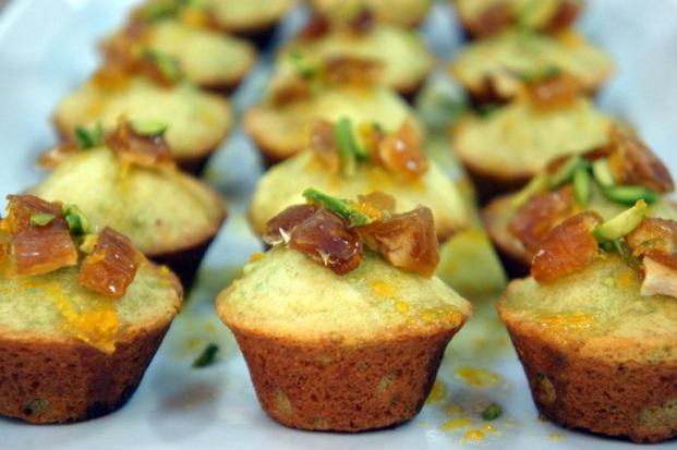 Pistachio Cakes with Orange Syrup