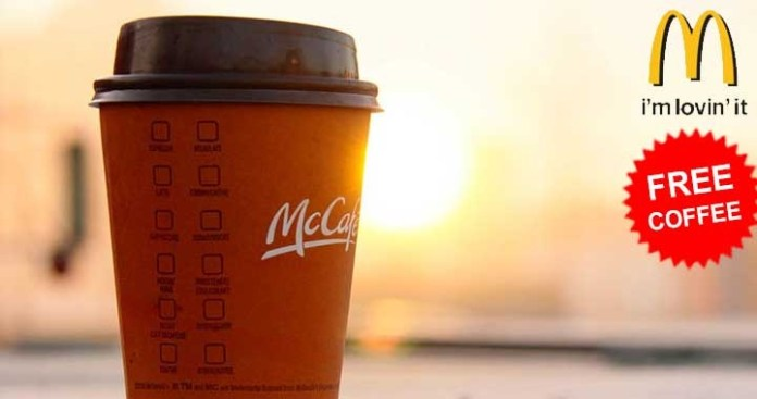 McDonald's offering Free Coffee till April 9th