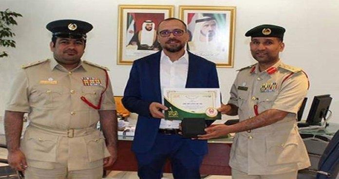 Dubai man honoured for Nabbing Robber