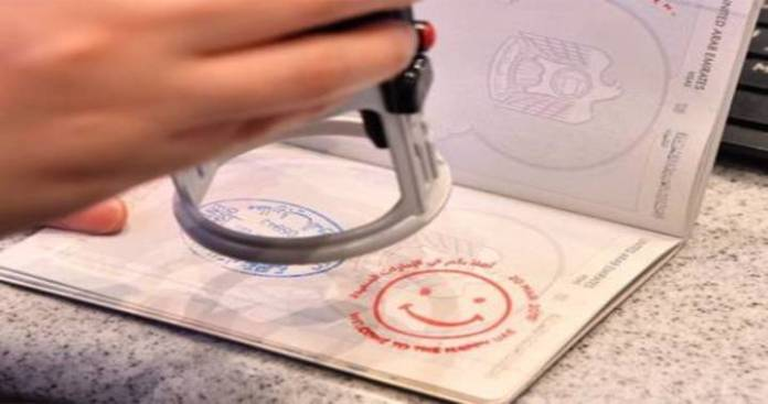 Abu Dhabi Immigration Using Special 'Year of Zayed' Themed Stamps on Passport