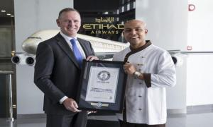 Etihad Airways Chef Breaks World Record for Serving at Highest Restaurant in World