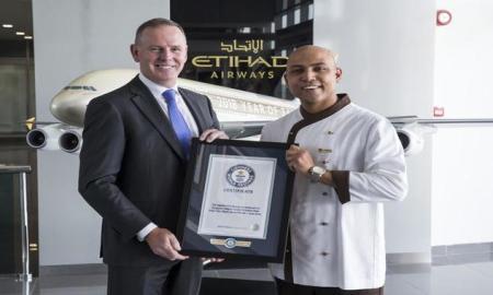 Etihad Airways Chef Breaks World Record for Serving at Highest Restaurant in World