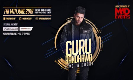 Indian Superstar Guru Randhawa To Perform Live in Dubai World Trade Centre