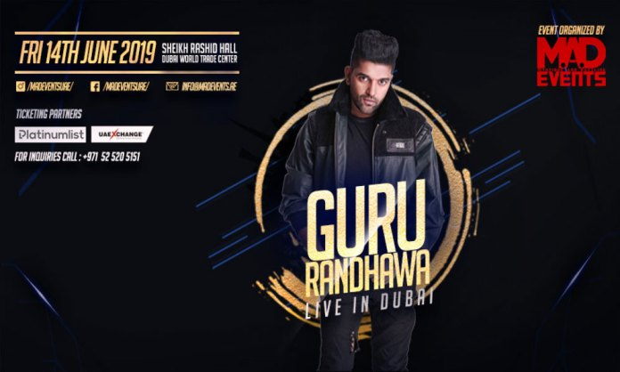 Indian Superstar Guru Randhawa To Perform Live in Dubai World Trade Centre