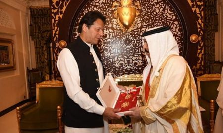 Bahrain's King Hamad confers highest Civil Award on PM Imran Khan