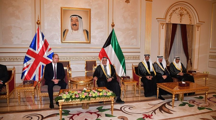 Prince William sits beside Sheikh Ali Al-Jarrah Al-Sabah