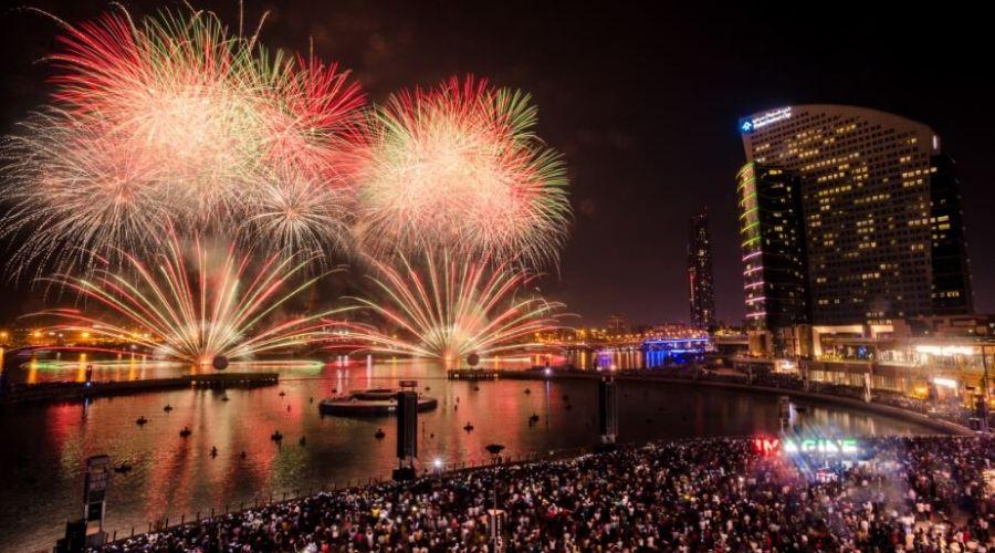 dubai festival city fireworks 2020