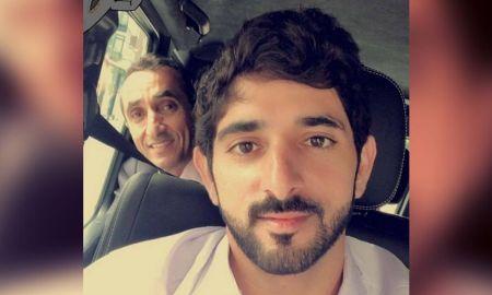 Sheikh Hamdan Test Driving New Tesla 3 With Uncle Saeed