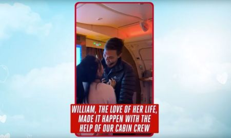 Couple gets Engaged mid air Emirates Flight on Valentine's Day