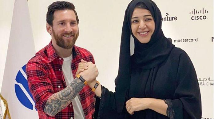Lionel Messi visits Dubai for Expo 2020