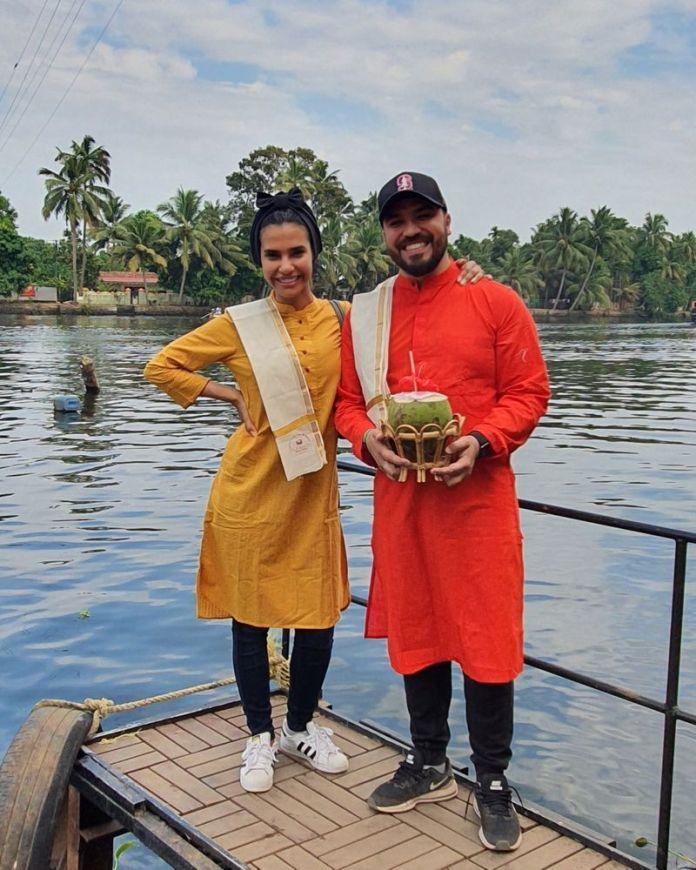 khalid al ameri in indian clothes with salama