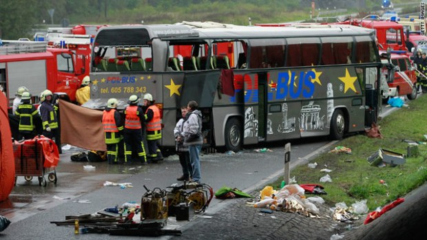 Bus crash in Germany