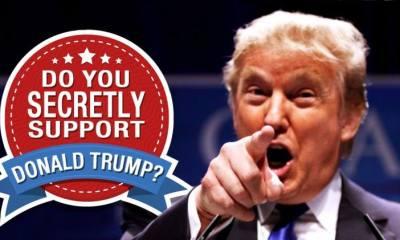 Support Donald Trump Secretly