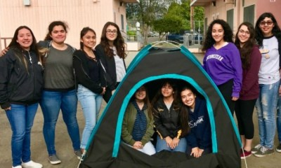 12 Girls from California Invented a Solar Powered Tent to Tackle Homelessness