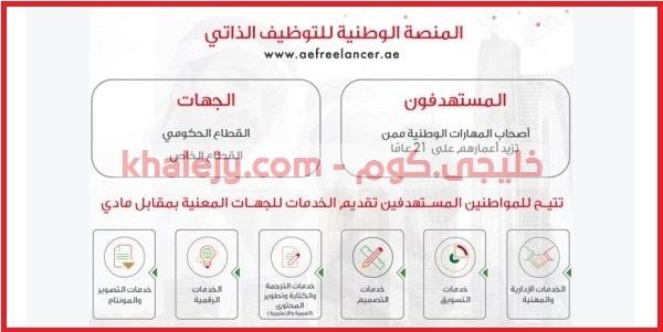 المنصة الوطنية للتوظيف الذاتي في الامارات الشروط والتسجيل