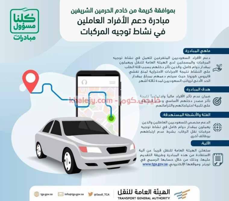 الهيئة العامة للنقل مبادرة دعم الأفراد السعوديين في نقل الركاب