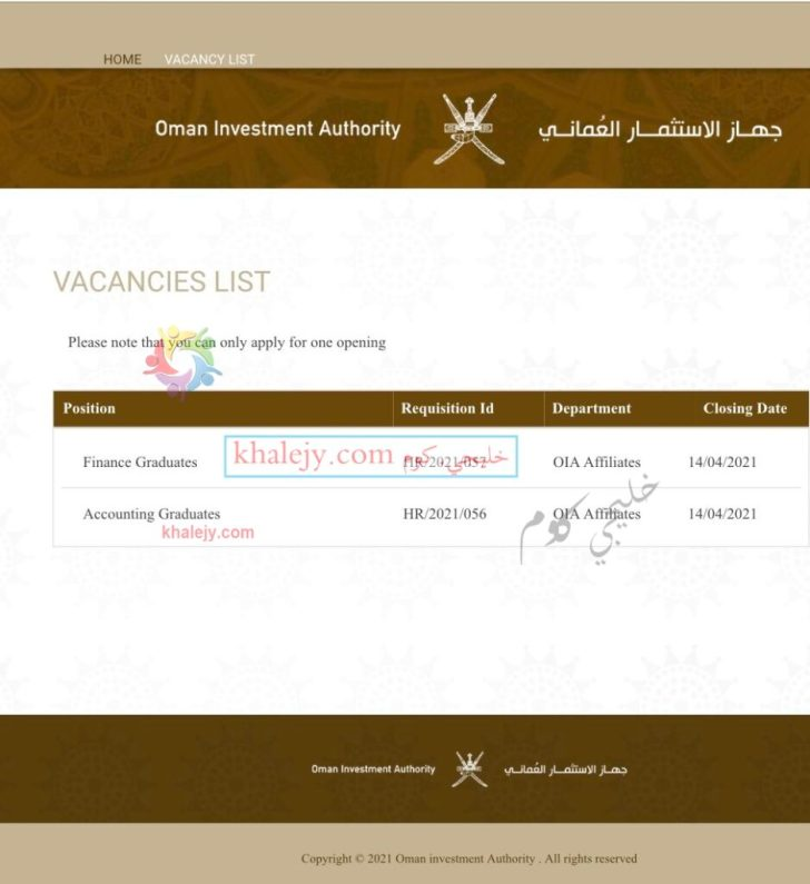 جهاز الإستثمار العماني يعلن عن برنامج تدريبي مقرون بالتوظيف للخريجين