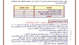 وظائف مصلحة الجمارك المصرية إعلان رقم ( ٢) لسنة 2021