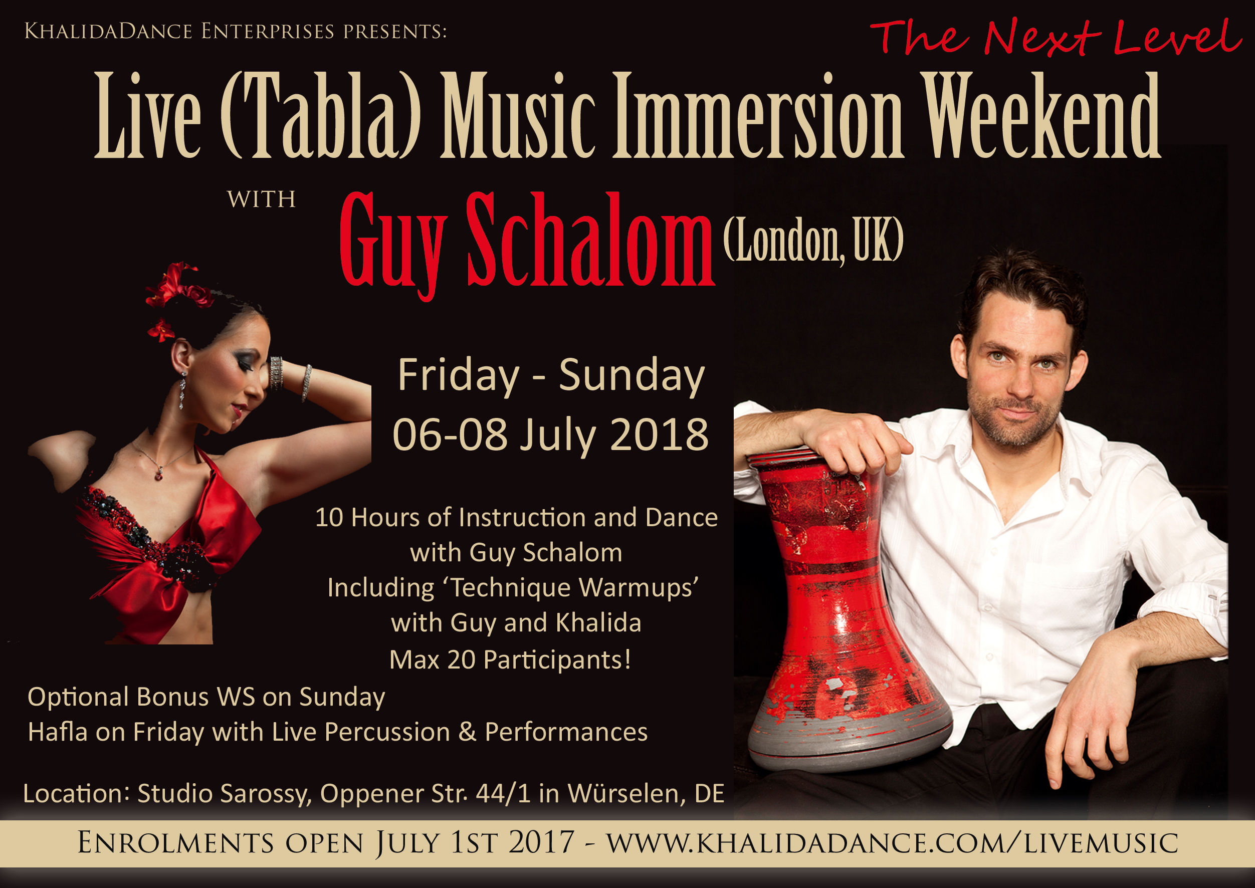 Live (Tabla) Music Immersion Weekend with Guy Schalom