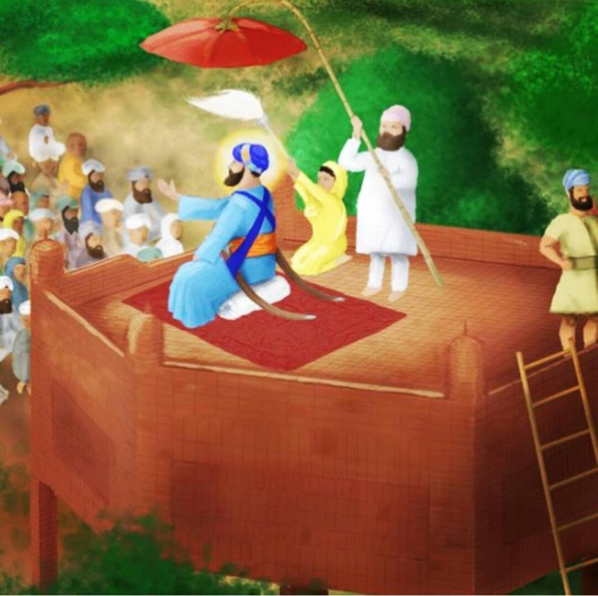 Originally the Akal Takhat was a 3.5 meter