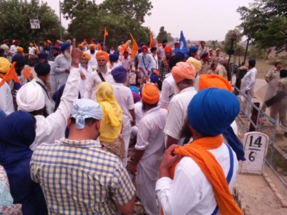 [Pictorial] Trains stopped in Punjab to support Bapu Surat Singh Khalsa's struggle