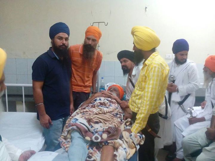 Bapu Surat Singh Khalsa has been shifted to DMC Hospital in Ludhiana. Details to follow on
