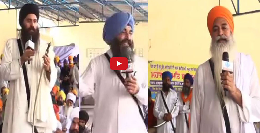 Sikh protests in Faridkot over the theft of a Saroop of Sri Guru Granth Sahib Ji from the Gurdwara Sahib